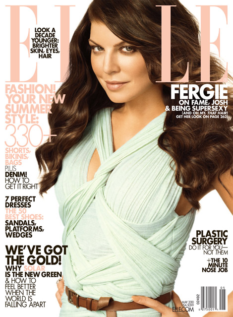 Fergie covergirl di Elle USA