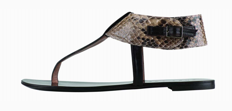 sandalo python flat di Pura Lopez