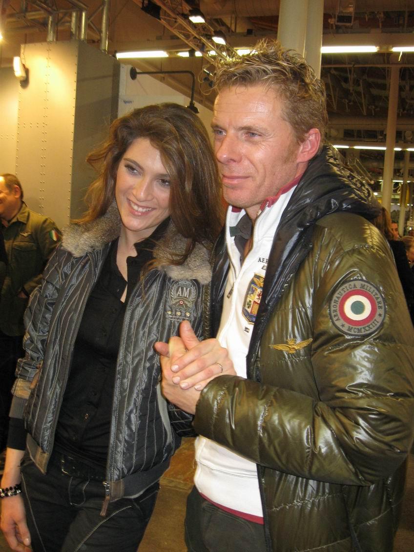 Kaspar Capparoni e la moglie Veronica Maccarone