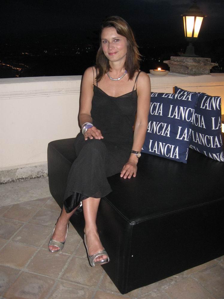 Kristine Klebe al Taormina Film Fest in abito vintage